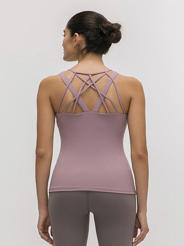 Chest Padded Top (Light Purple)