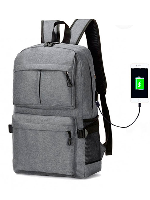 Men Women USB Backpack Travel Bag