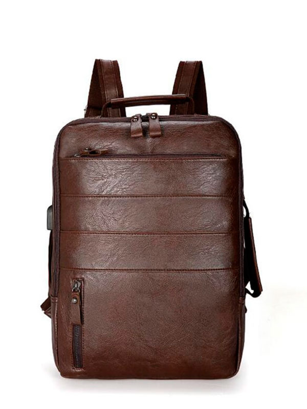 Men Solid  Laptop Flap Business Backpack