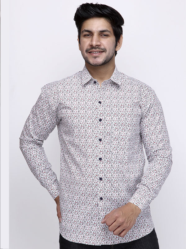 Men Floral Printed Causal Shirt
