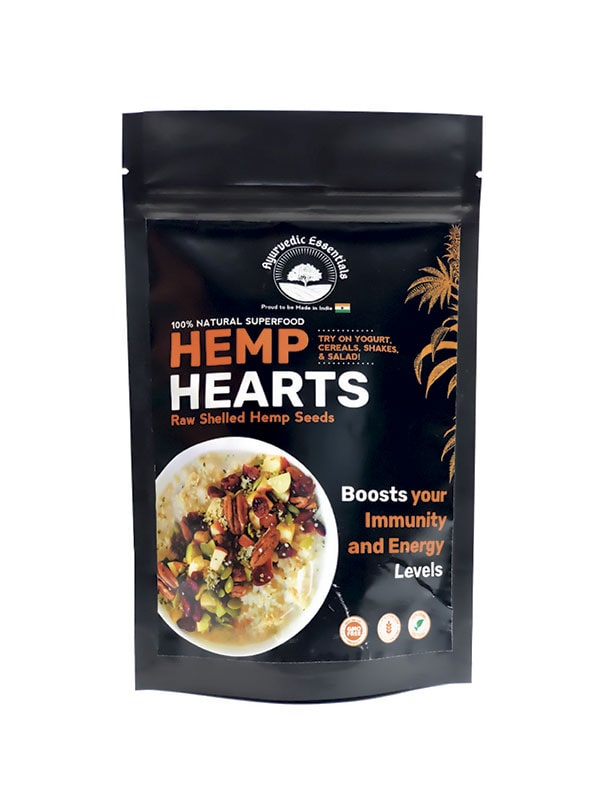Ayurvedic Essentials Hemp Hearts (Seeds) | 150 GM