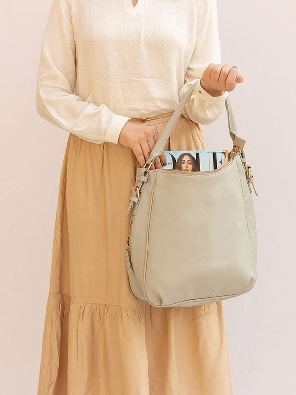 Wednesday Hobo Bag - Grey
