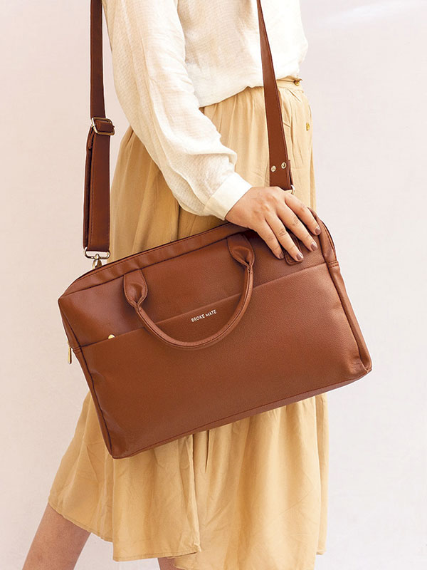 14.5 Inch Laptop Bag - Brown